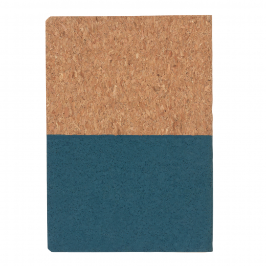 Eco cork notebook, blue