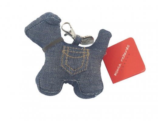 Key charm max the dog denim