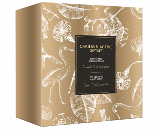 Care giftset hand cream & hand wash