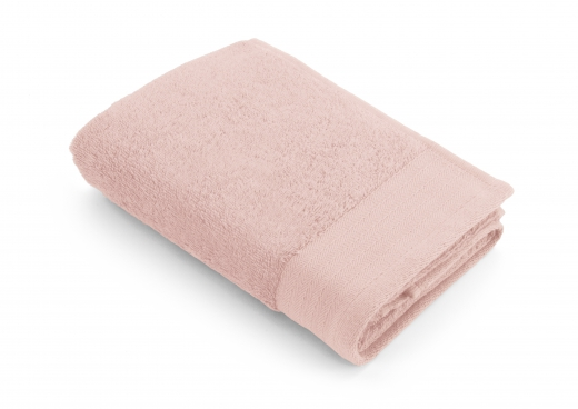 Baddoek soft cotton terry roze 50x100 cm