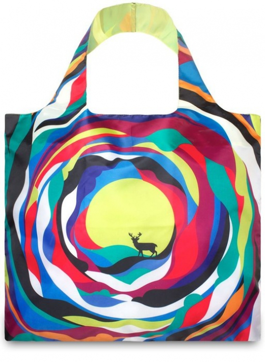 Loqi tote shopper artists psychedelic