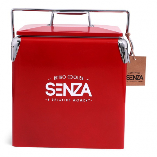 SENZA Retro Coolerbox Red