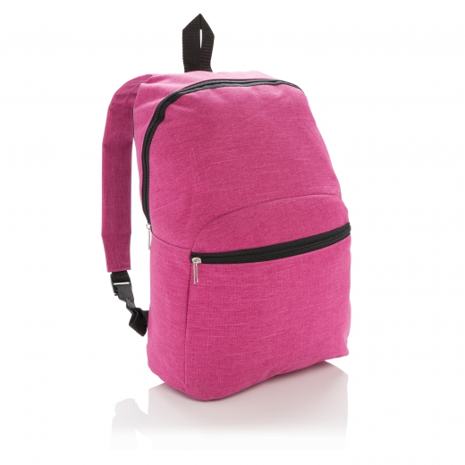Classic two tone backpack, fuchsia