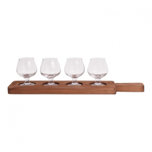 SENZA Taster Plate with 4 Glasses