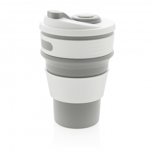 Foldable silicone cup, grey