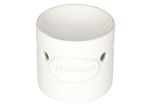 Burner regular plate Scentchips white 9x9cm