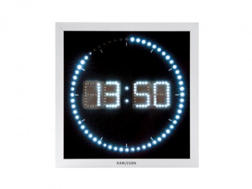 Wandklok LED The time roll