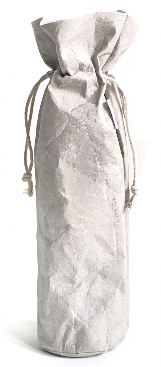 Sizo wine bag paper gray Ø9,5 / H36,5 cm