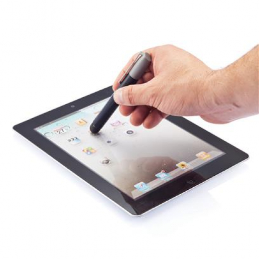 3 in 1 touch stylus grijs