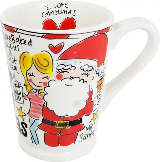 Beker mazagran christmas red heart Blond