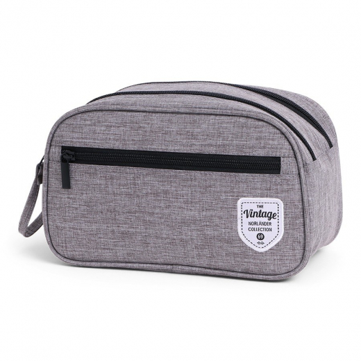 Vintage Twin Tone Cosmeticbag Grey