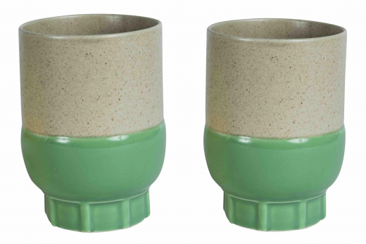 Two colours cup green