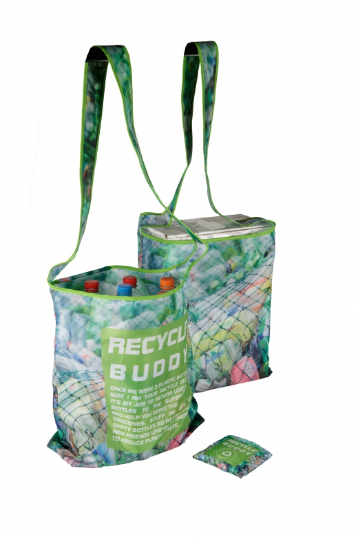 Opvouwbare Cross Bag RECYCLED BUDDY 100% gerecycled petflessen