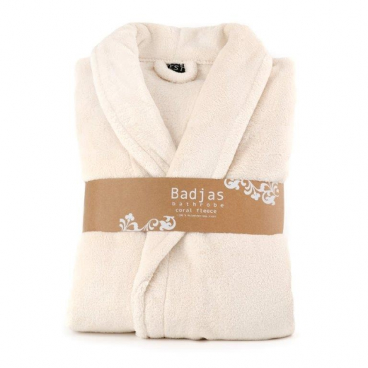 Badjas fleece relax ivoor
