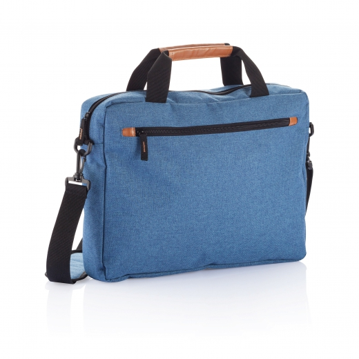 Fashion duo tone laptop bag, blue