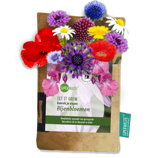 Let it grow hanging garden bee flower blend