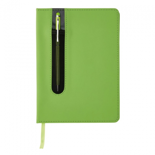 Deluxe a5 notebook with stylus pen, lime
