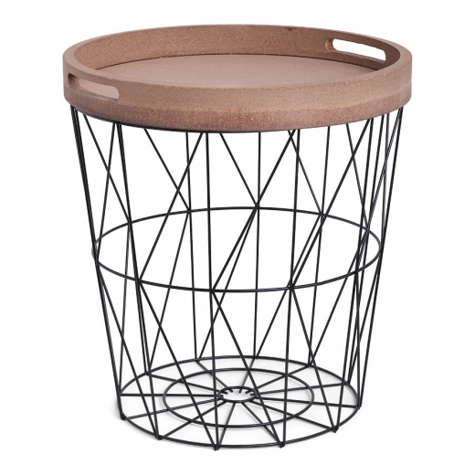SENZA Iron Basket with Serving Tray Black